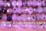 CRB2214 15.5 inches 2*3mm faceted rondelle black rutilated quartz beads