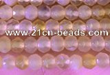 CRB2216 15.5 inches 2*3mm faceted rondelle yellow opal beads