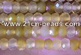 CRB2217 15.5 inches 2*3mm faceted rondelle yellow opal beads