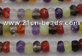 CRB223 15.5 inches 2.5*4mm faceted rondelle mixed quartz beads