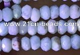 CRB2231 15.5 inches 2*3mm faceted rondelle larimar beads