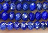 CRB2241 15.5 inches 2*3mm faceted rondelle lapis lazuli beads