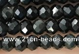 CRB2248 15.5 inches 3*4mm faceted rondelle obsidian beads