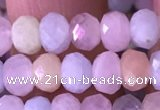 CRB2277 15.5 inches 4*6mm faceted rondelle morganite beads