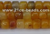 CRB2502 15.5 inches 6*8mm rondelle yellow jade beads wholesale