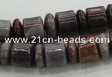 CRB251 15.5 inches 5*12mm - 10*12mm rondelle Indian agate beads