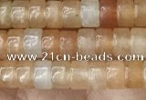 CRB2552 15.5 inches 2*4mm heishi red aventurine beads wholesale