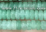 CRB2554 15.5 inches 2*4mm heishe green aventurine beads wholesale