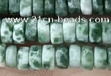 CRB2561 15.5 inches 2*4mm heishe moss agate beads wholesale