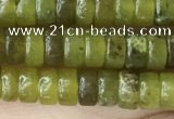CRB2564 15.5 inches 2*4mm heishe olive jade beads wholesale