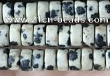 CRB2567 15.5 inches 2*4mm heishi dalmatian jasper beads wholesale