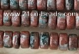 CRB2569 15.5 inches 2*4mm heishe brecciated jasper beads wholesale