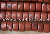 CRB2570 15.5 inches 2*4mm heishi red jasper beads wholesale