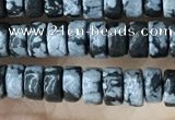 CRB2575 15.5 inches 2*4mm heishe snowflake obsidian beads wholesale
