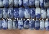 CRB2576 15.5 inches 2*4mm heishi blue spot stone beads wholesale