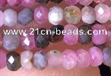 CRB2609 15.5 inches 2*3mm faceted rondelle tourmaline beads