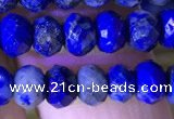 CRB2648 15.5 inches 3.5*5mm faceted rondelle lapis lazuli beads