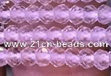 CRB2662 15.5 inches 2*3mm faceted rondelle white crystal beads