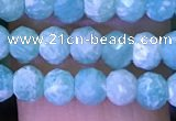 CRB2669 15.5 inches 3*4mm faceted rondelle amazonite beads
