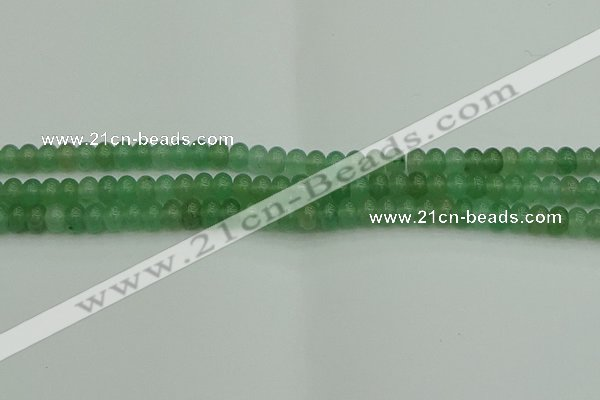 CRB2820 15.5 inches 4*6mm rondelle green aventurine beads