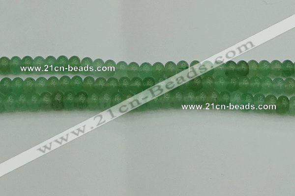 CRB2822 15.5 inches 6*10mm rondelle green aventurine beads