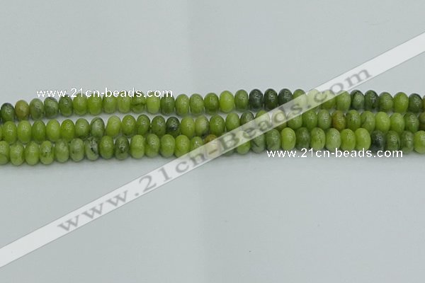 CRB2836 15.5 inches 5*8mm rondelle Chinese chrysoprase beads