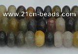 CRB2845 15.5 inches 4*6mm rondelle fancy jasper beads wholesale