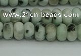 CRB2850 15.5 inches 4*6mm rondelle sesame jasper beads