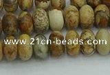 CRB2856 15.5 inches 5*8mm rondelle sesame jasper beads
