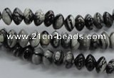 CRB29 15.5 inches 5*8mm rondelle black water jasper beads