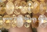 CRB3012 15.5 inches 5*8mm faceted rondelle citrine beads