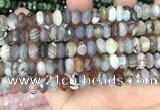 CRB3074 5*8mm - 4*9mm faceted rondelle Botswana agate beads