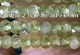 CRB3115 15.5 inches 2*3mm faceted rondelle tiny peridot beads