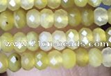 CRB3124 15.5 inches 2*3mm faceted rondelle tiny yellow opal beads