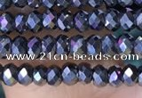 CRB3131 15.5 inches 2*3mm faceted rondelle tiny terahertz beads