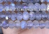 CRB3144 15.5 inches 2.5*4mm faceted rondelle tiny labradorite beads