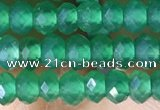 CRB3171 15.5 inches 2.5*4mm faceted rondelle tiny green agate beads