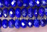 CRB3177 15.5 inches 2.5*4mm faceted rondelle tiny lapis lazuli beads