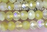 CRB3178 15.5 inches 2.5*4mm faceted rondelle tiny yellow opal beads