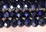 CRB3188 15.5 inches 3*5mm faceted rondelle tiny black spinel beads