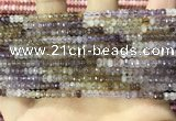 CRB3200 15.5 inches 2*3.5mm faceted rondelle mixed quartz beads