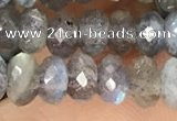 CRB3212 15.5 inches 3.5*6mm faceted rondelle labradorite beads