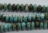 CRB37 15.5 inches 5*8mm rondelle synthetic turquoise beads