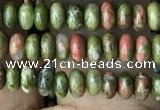 CRB4007 15.5 inches 2.5*4.5mm rondelle unakite beads wholesale