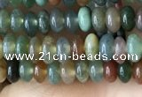 CRB4009 15.5 inches 2.5*4.5mm rondelle Indian agate beads wholesale