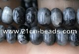 CRB4035 15.5 inches 4*6mm rondelle black labradorite beads wholesale