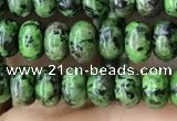 CRB4042 15.5 inches 4*6mm rondelle imitation ruby zoisite beads