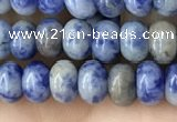 CRB4046 15.5 inches 4*6mm rondelle blue spot stone beads