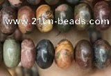 CRB4077 15.5 inches 5*8mm rondelle picasso jasper beads wholesale