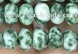 CRB4116 15.5 inches 5*8mm faceted rondelle Qinghai jade beads